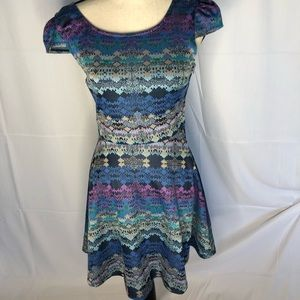 Size 7 City Triangles Fit and Flare Dress